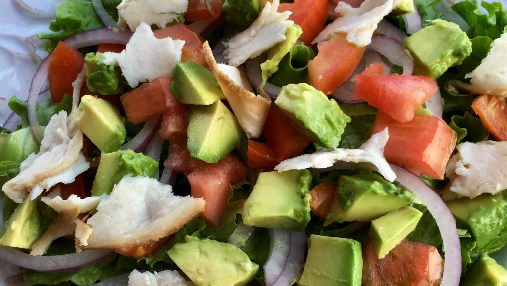 Simple Avocado Turkey Tomato Salad