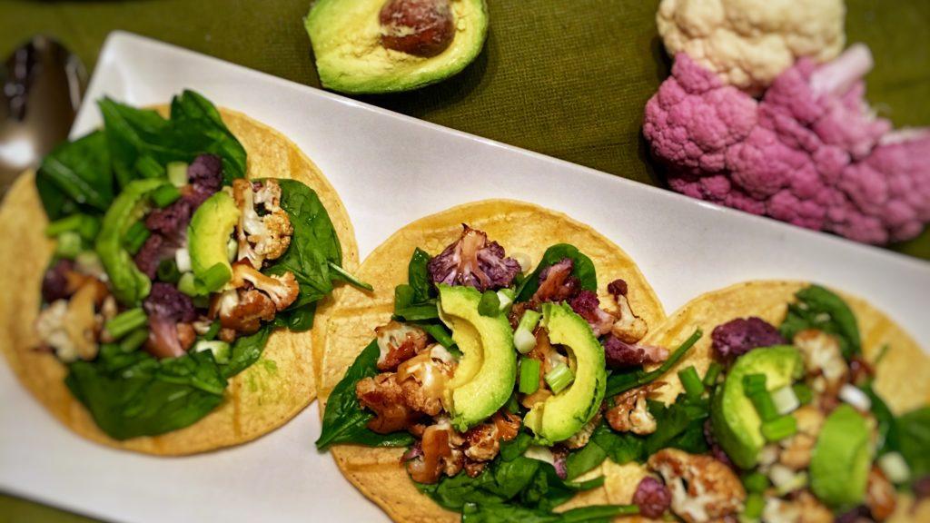 Vegan Roasted Cauliflower Tacos