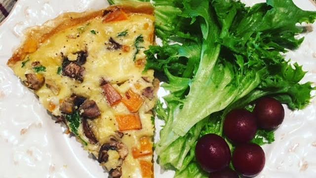 Wedge Sweet Potato Frittata Slice
